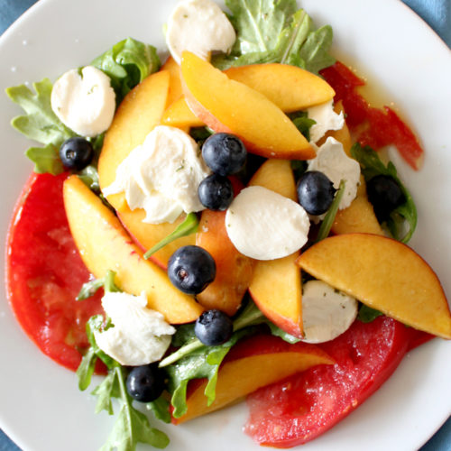 Peach, Tomato and Blueberry Salad
