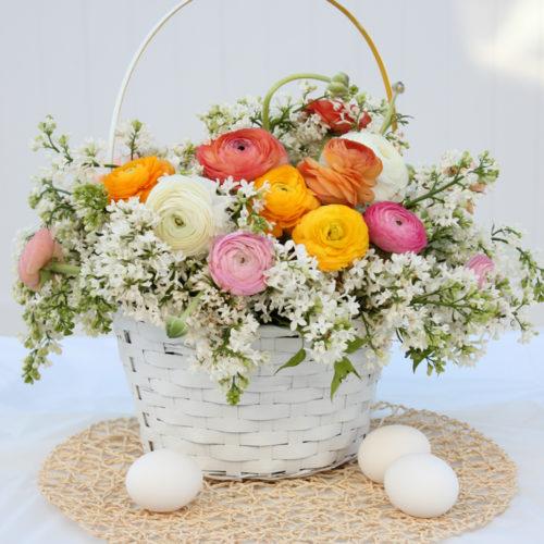 DIY Blooming Easter Basket Centerpiece