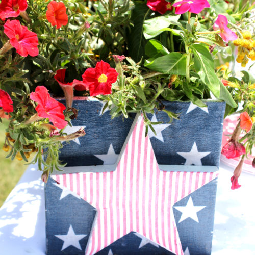 DIY Fourth of July Planter Box
